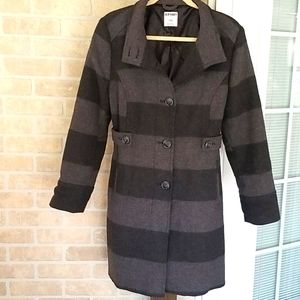 Old Navy Wool Rugby Stripe Jacket size Large
